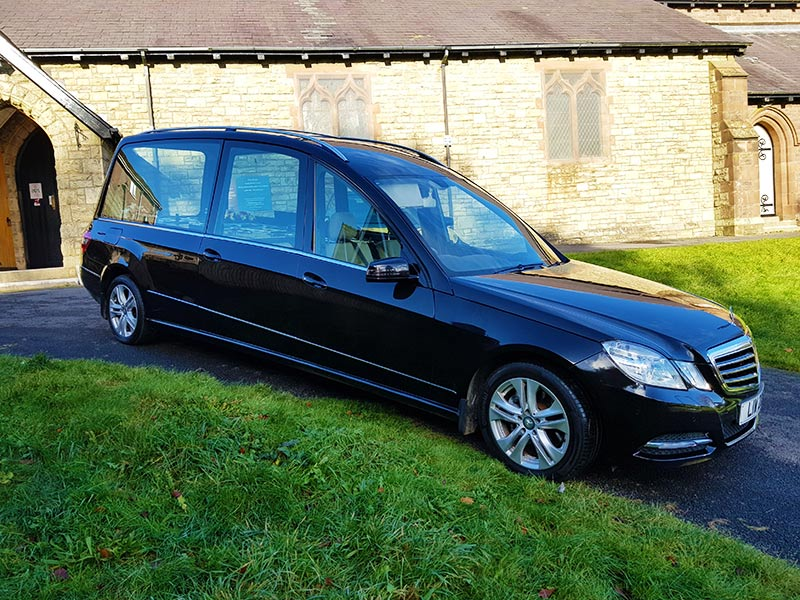 Roger Llewellyn Hughes Funeral Service Hearse