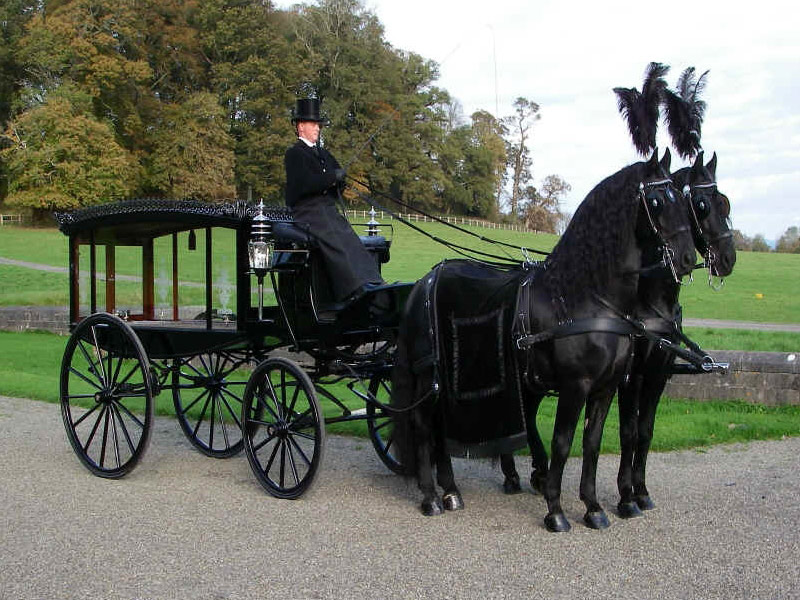 Roger Llewellyn Hughes Funeral Service Horse Drawn Hearse