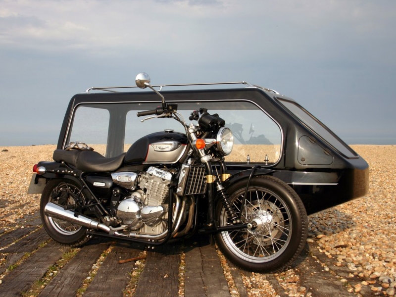 Roger Llewellyn Hughes Funeral Service Motorcycle Hearse