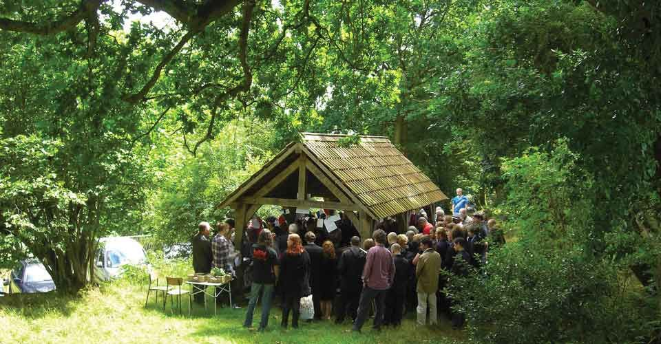 Roger Llewellyn Hughes Funeral Service Natural Burial Congregation Shelter